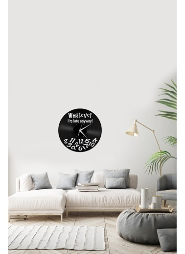 Angemiel Home Geç KaldımPleksi Duvar Saati Siyah